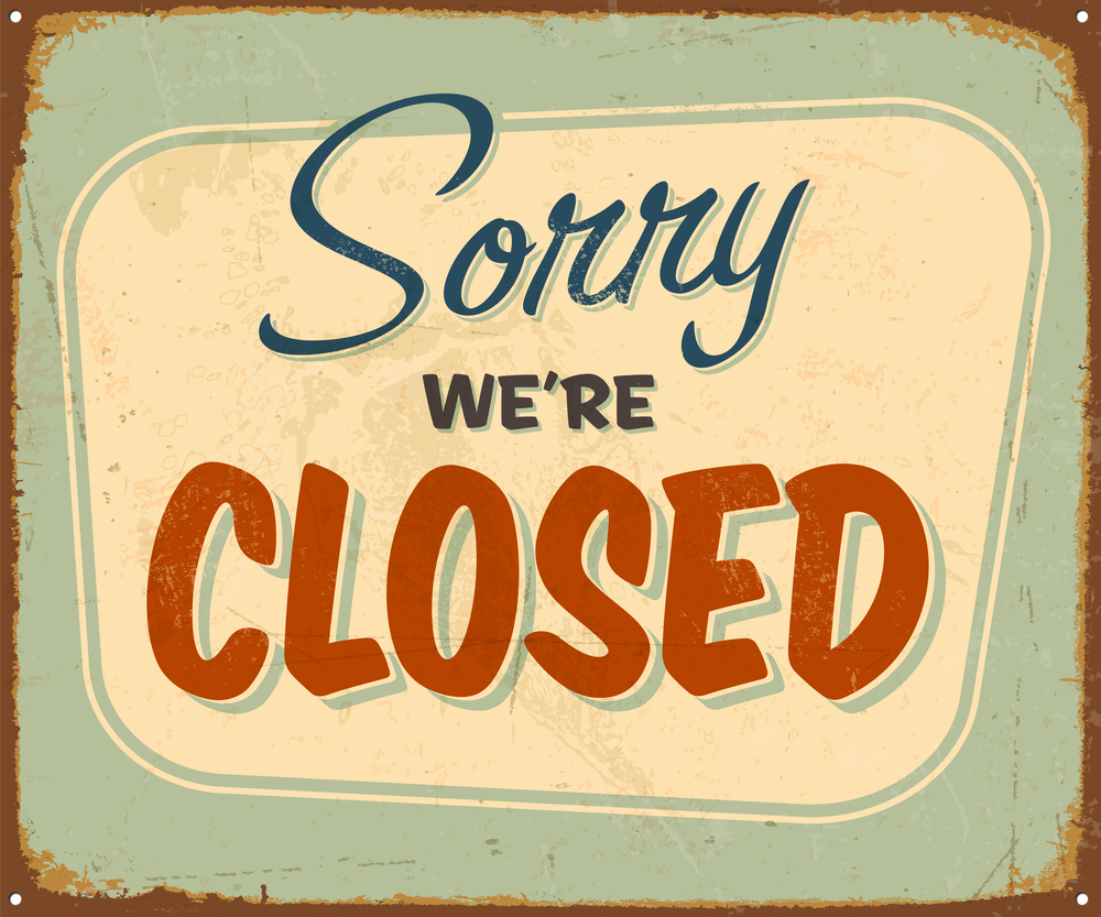 Sorry Were Closed Clipart Clipart Kid