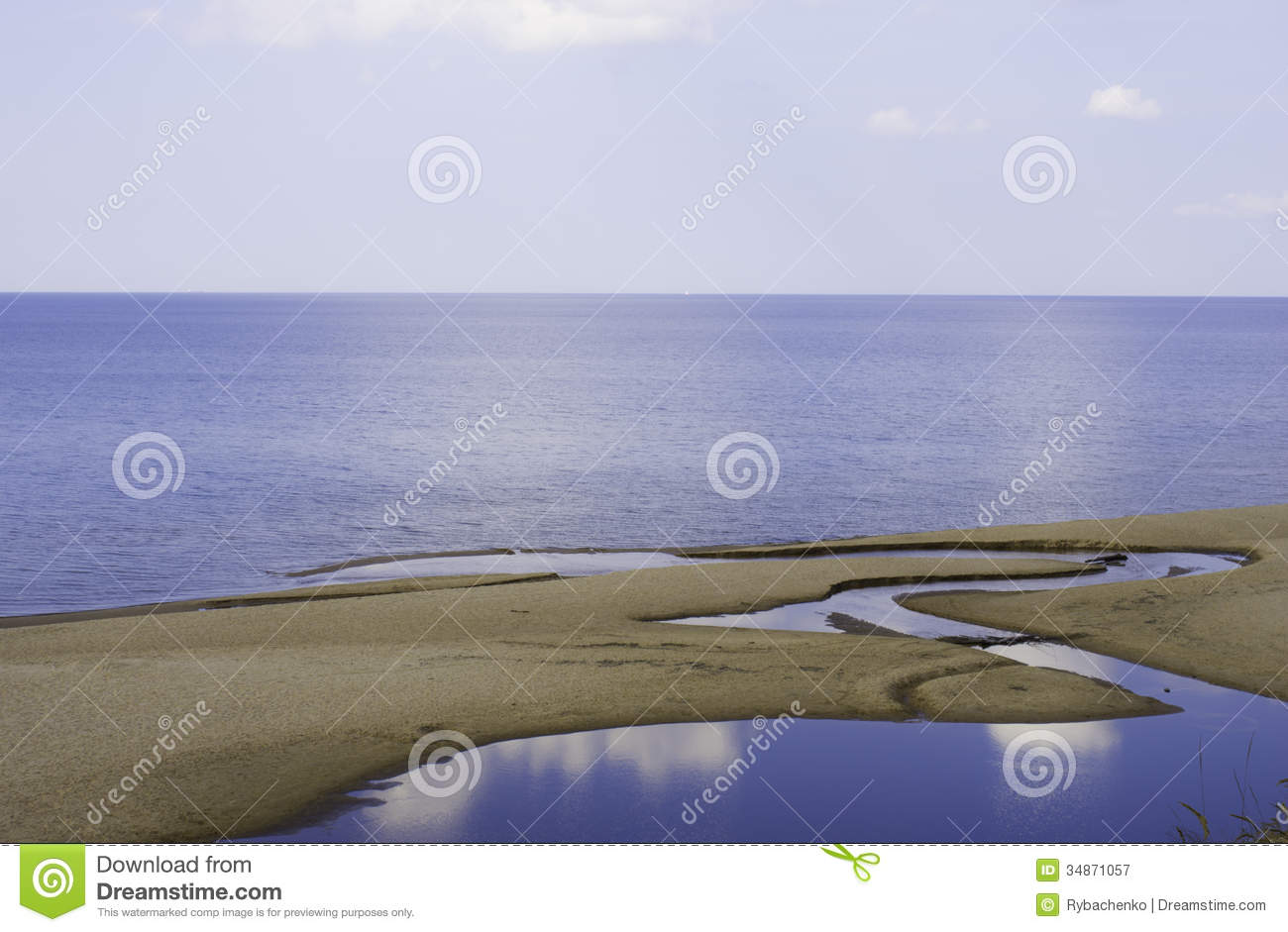 Sky Sea And Land Royalty Free Stock Photography   Image  34871057