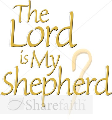 The Lord Is My Shepherd With Crook Staff   Inspirational Word Art