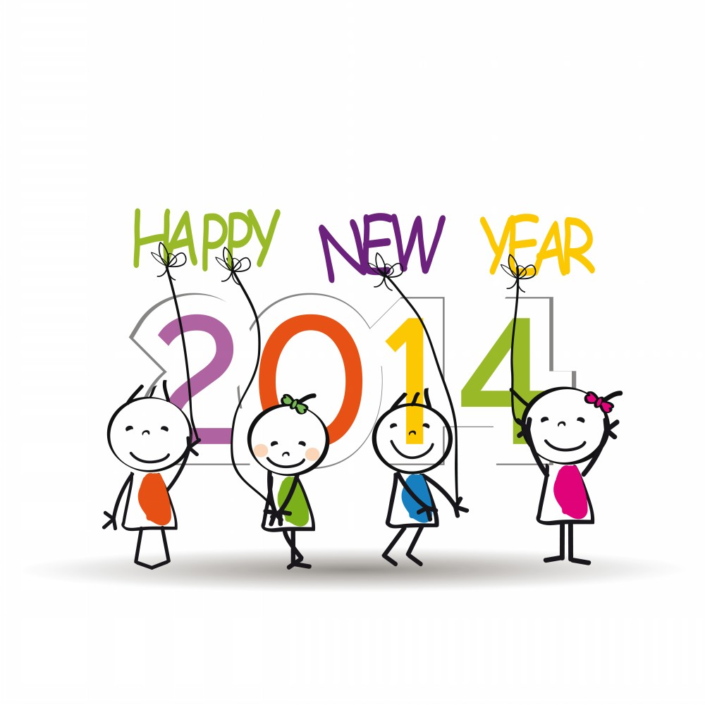 Year 2014 For Kids Downloads Added 8th December 2013 Cat New Year Tags