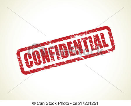 Clipart Vector Of Confidential Stamp   Red Confidential Stamp
