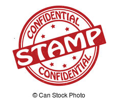 Confidential Stamp   Stamp With Text Confidential Stamp
