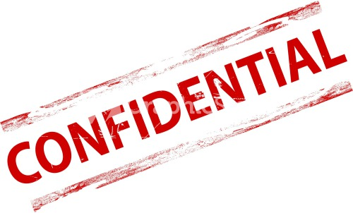 Confidential Stamp Stock Image Clipart