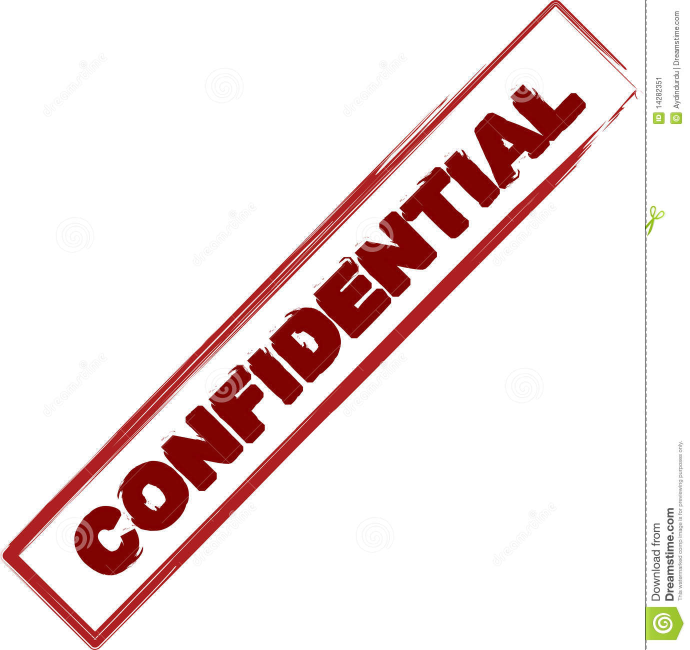 Confidential Stamp Stock Image   Image  14282351
