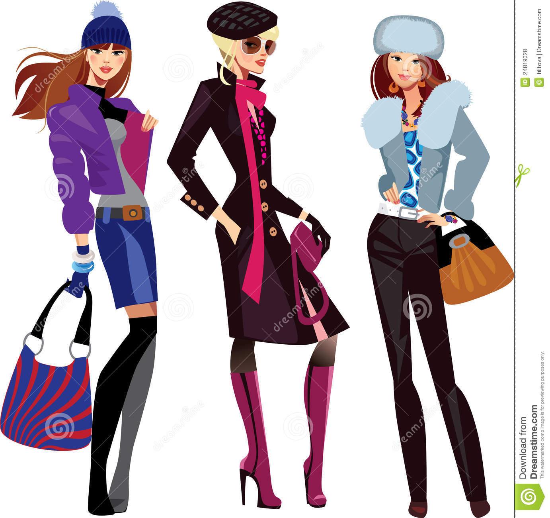 Fall Fashion For Women Clipart - Clipart Kid