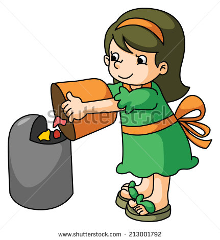 Throwing Garbage Clipart - Clipart Kid