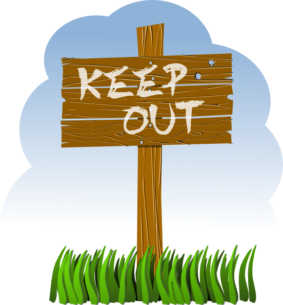 Keep Out Clip Art At Clker Com   Vector Clip Art Online Royalty Free