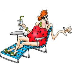 Lady In Bathing Suit Relaxing On Lounge Chair With Ice Tea And Diamond