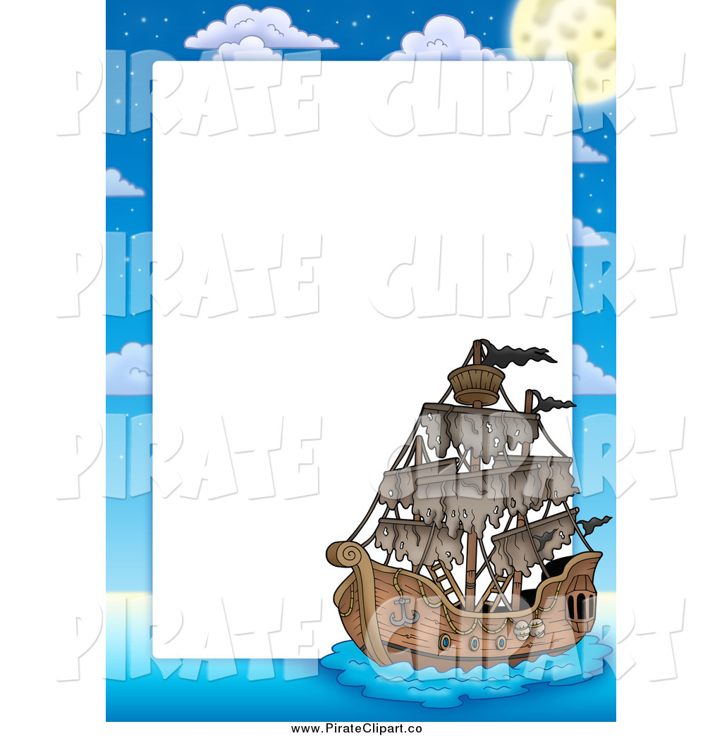 Pirate Ship Border Around Text Space Pirate Clip Art Visekart