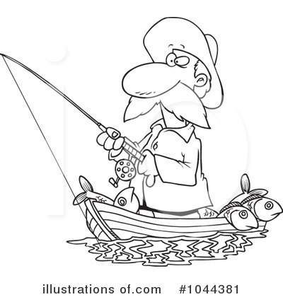 Royalty Free  Rf  Fishing Clipart Illustration By Ron Leishman   Stock