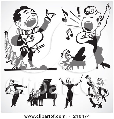 Royalty Free  Rf  Opera Singer Clipart Illustrations Vector Graphics