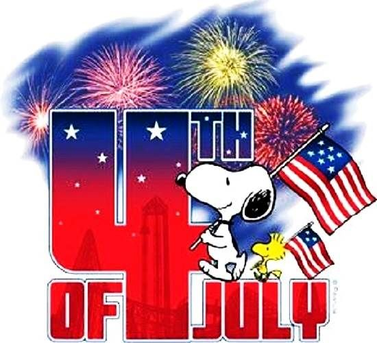 Snoopy 4th Of July Clip Art Free Graphics Pictures Flag Images