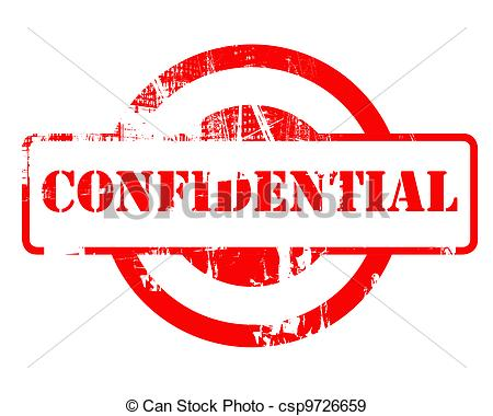 Stock Illustration Of Confidential Red Stamp With Copy Space Isolated
