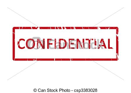 Stock Illustration Of Confidential Stamp   An Office Stamp With The