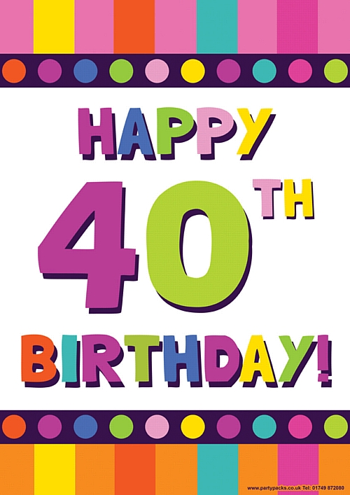 Happy 40th Birthday Clipart - Clipart Kid