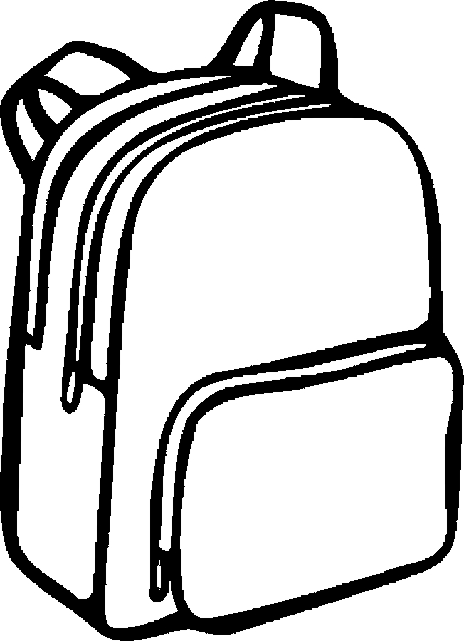 Backpack 06 Free Printable School Supplies Coloring Pages