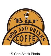 Bar Food And Drink   Grunge Stamp With Text Bar Food And
