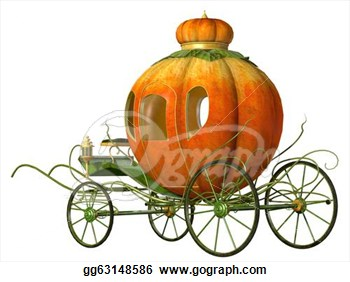 Cinderella Fairy Tale Pumpkin Carriage  Clipart Drawing Gg63148586