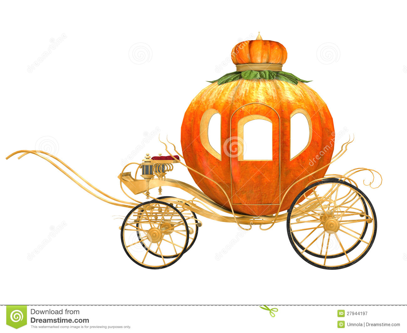 Cinderella Fairy Tale Pumpkin Carriage Royalty Free Stock Photography