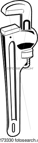Clipart   Tool Tools Illustration Pipe Wrench  Fotosearch   Search