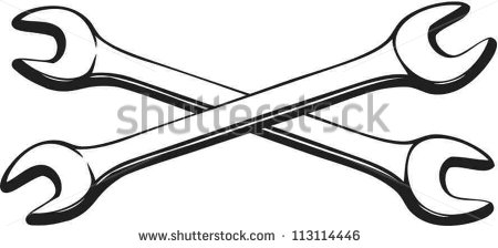 Cross Wrench Vector Crossed Wrenches