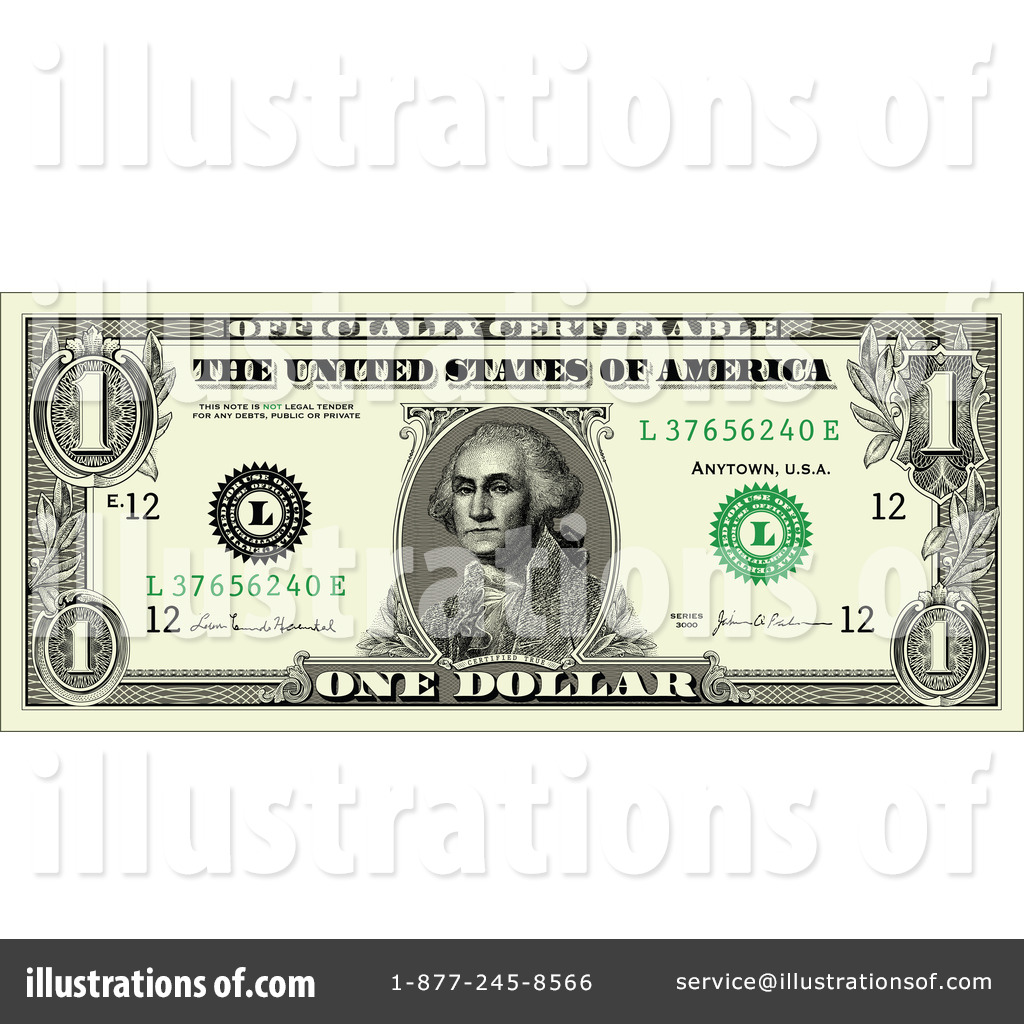 File Name   Royalty Free Rf Dollar Bill Clipart Illustration By
