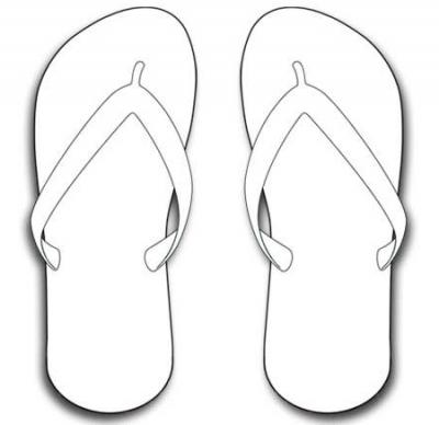 Simple Flip Flop Clipart - Clipart Suggest
