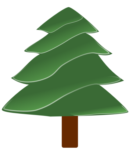 Evergreen Tree Free Clipart - Clipart Kid
