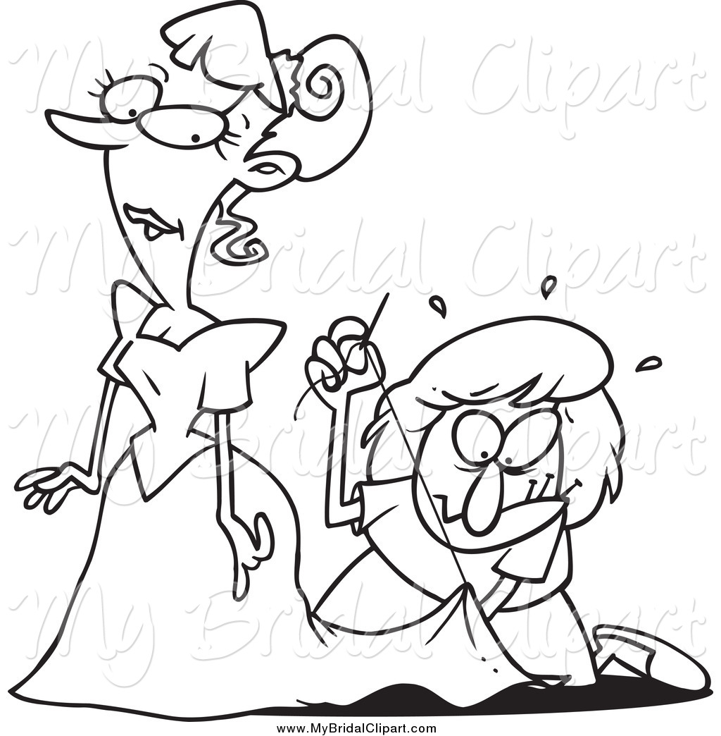 Getting Dressed Clip Art Black And White Bridal Clipart Of A Black And
