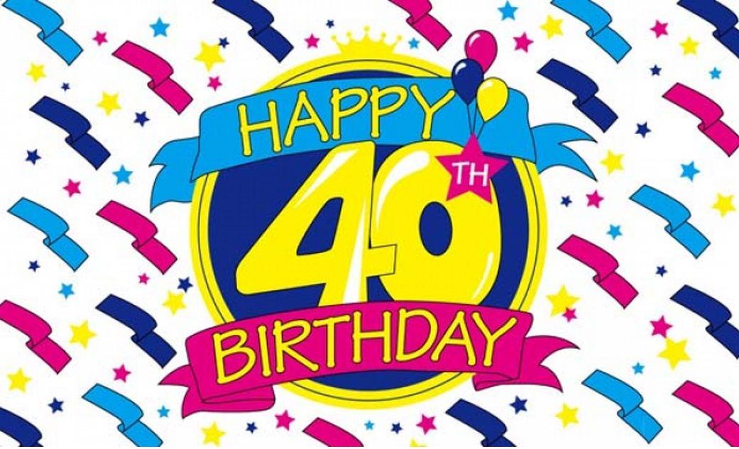 Happy 40th Birthday Clipart - Clipart Kid