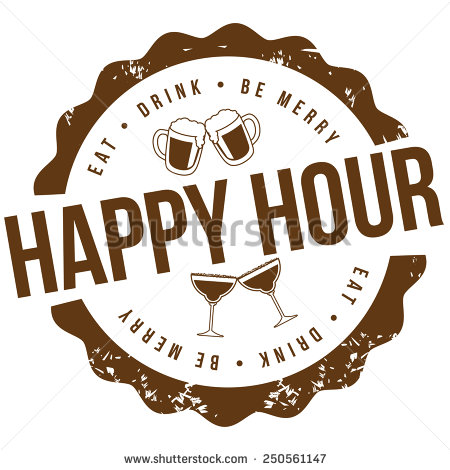 Happy Hour Stamp Royalty Free Illustration For Pubs Bars Nightclubs
