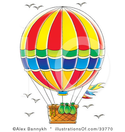 Hot Air Balloon Clip Art Vintage   Clipart Panda   Free Clipart Images