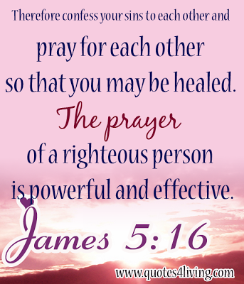 Inspirational Bible Verse  Pray For Each Other For Healing