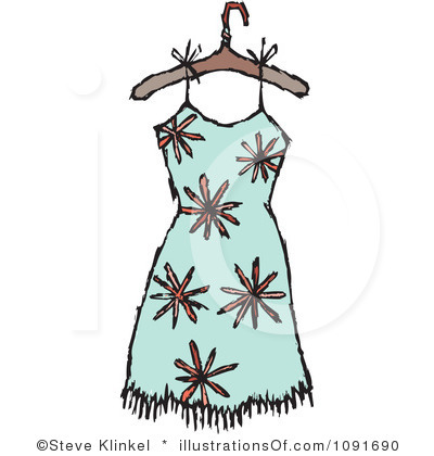 Little Girl Dress Clipart Black And White Royalty Free Dress Clipart