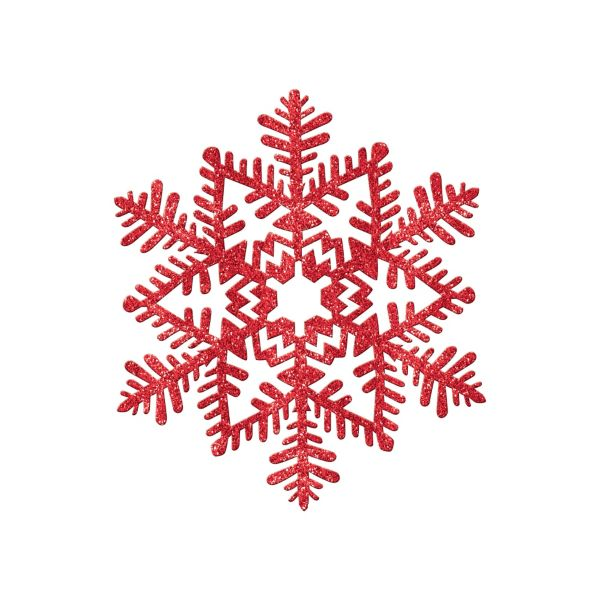 Red snowflake clipart suggest