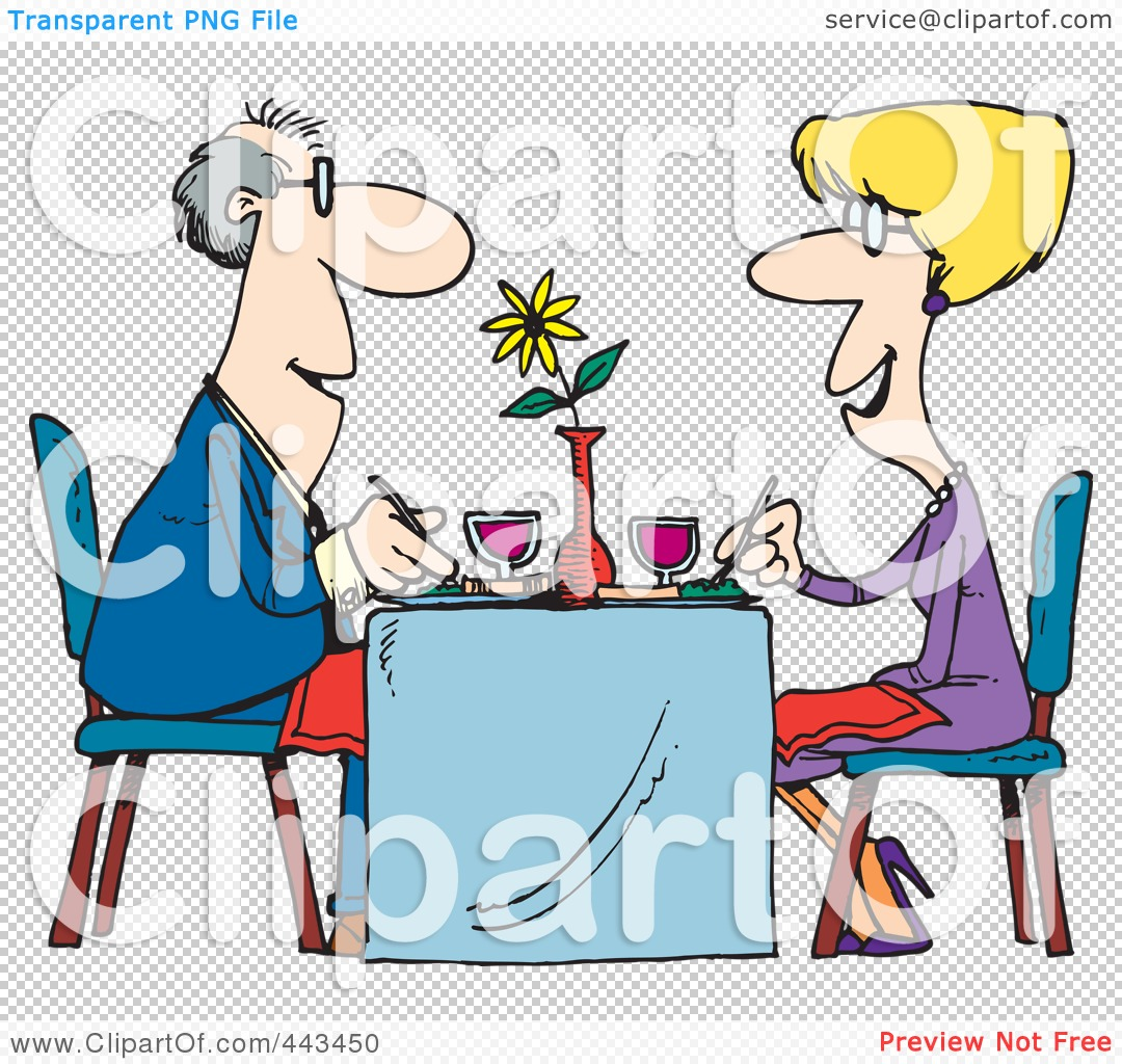 Of A Cartoon Couple Dining At A Restaurant By Ron Leishman  443450