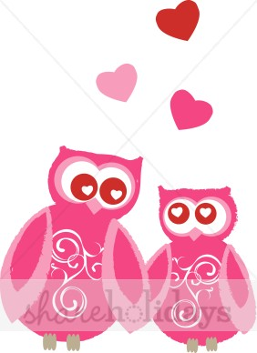 Owl Couple Clipart