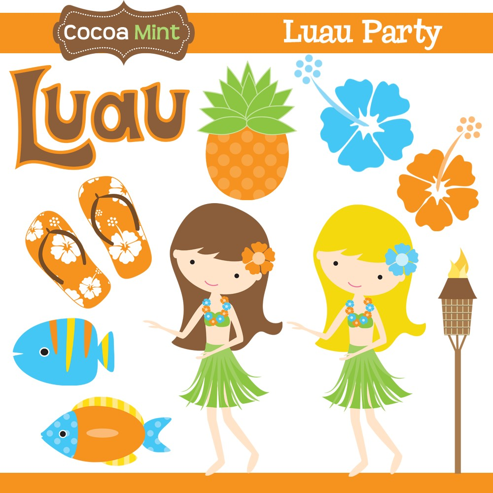Pin Luau Party Clipart Hawaiian Cake Picture For Pinterest And Other