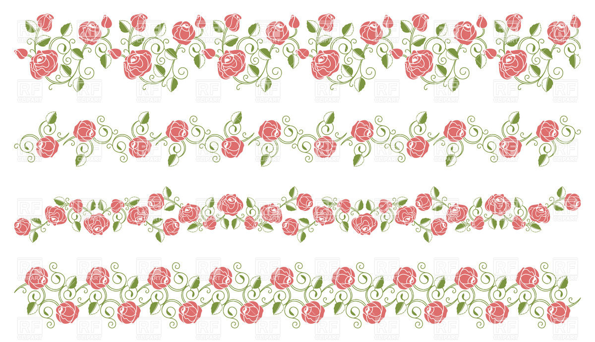 Pink Rose Border Clipart - Clipart Suggest