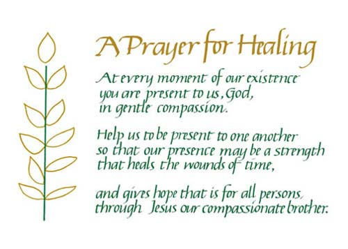 Prayer For Healing A Loved One