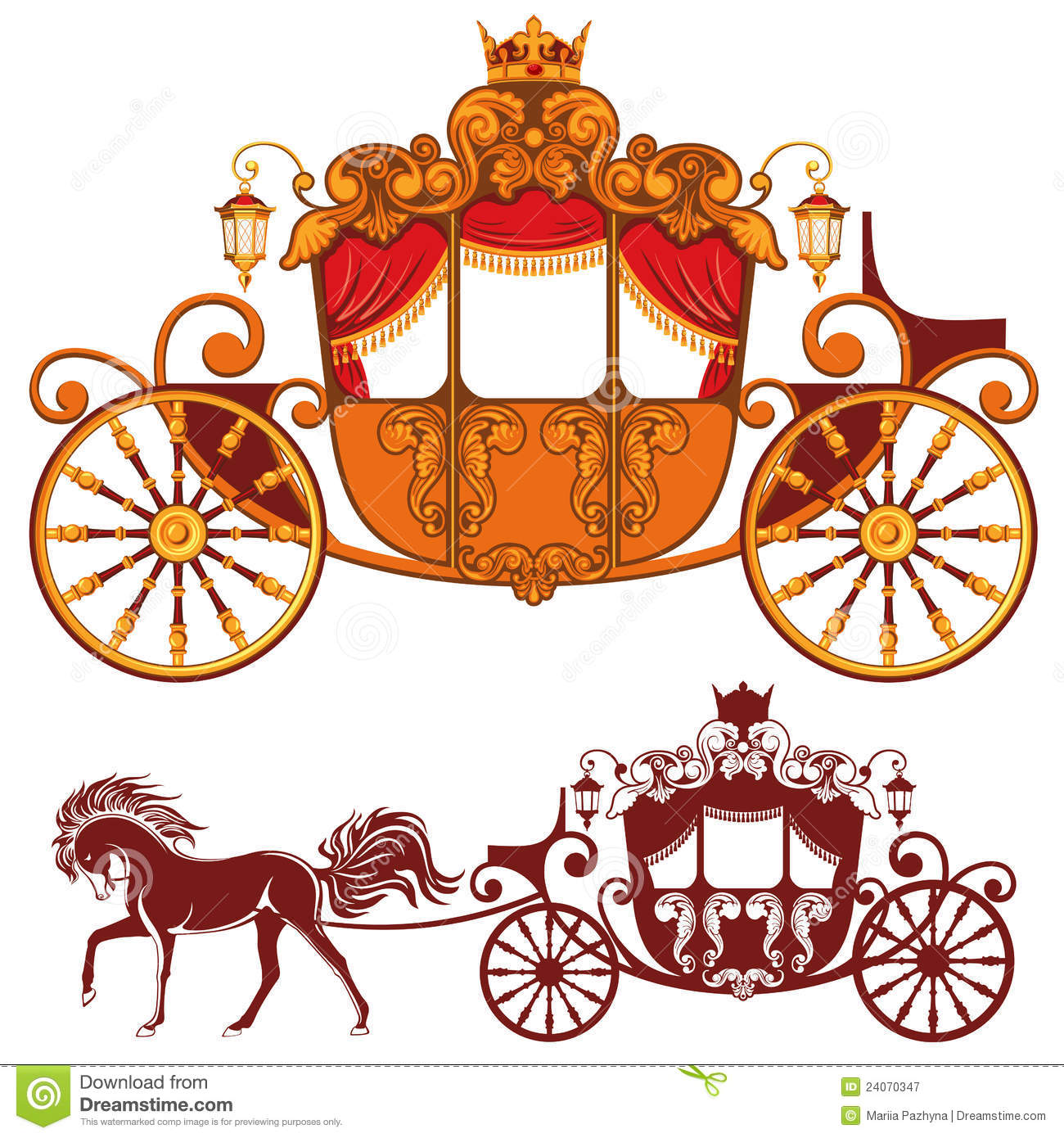 Royal Carriage Royalty Free Stock Photography   Image  24070347