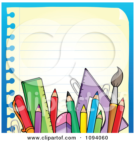 School Supplies Borders And Frames   Clipart Panda   Free Clipart
