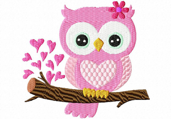 Valentine S Day Owl  6  4x4 Instant Download Machine Embroidery Design