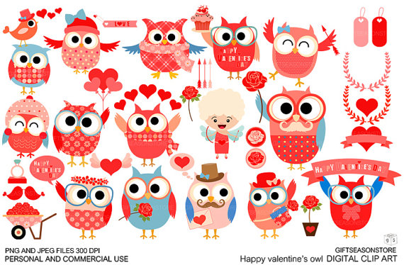 Valentines Day Owl Clipart Happy Valentine S Day Happy Valentine Owl