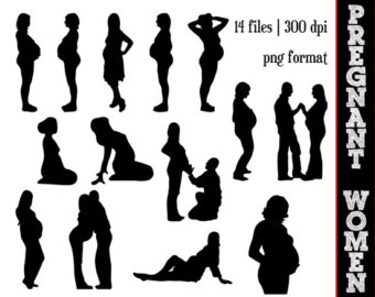 Women Silhouettes    Pregn Ancy Silhouette    Pregnant Woman Clipart