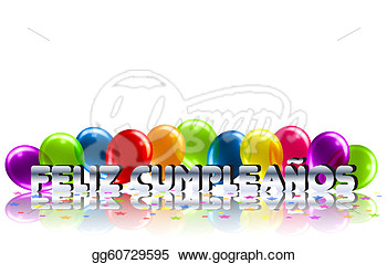 Art Vector   Happy Birthday Message In Spanish  Stock Eps Gg60729595