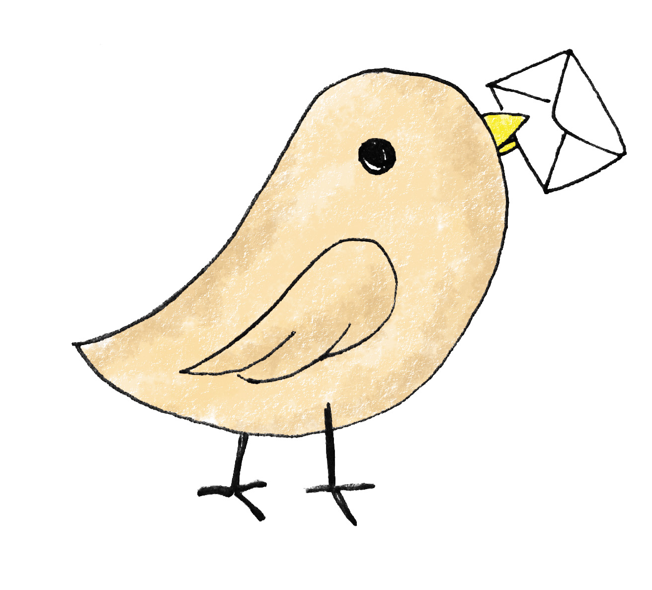 Bird Carrying Letter   Free Images At Clker Com   Vector Clip Art