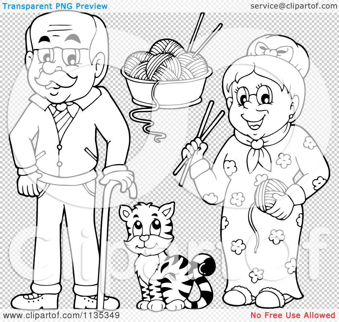 Cartoon Grandparents Clipart
