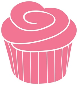 Cupcake Clipart Image   A Strawberry Cupcake With Pink Frosting On Top