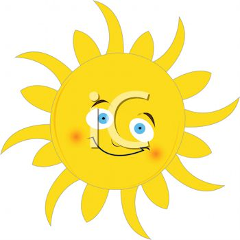 Cute Sun With A Smiling Face   Royalty Free Clipart Image